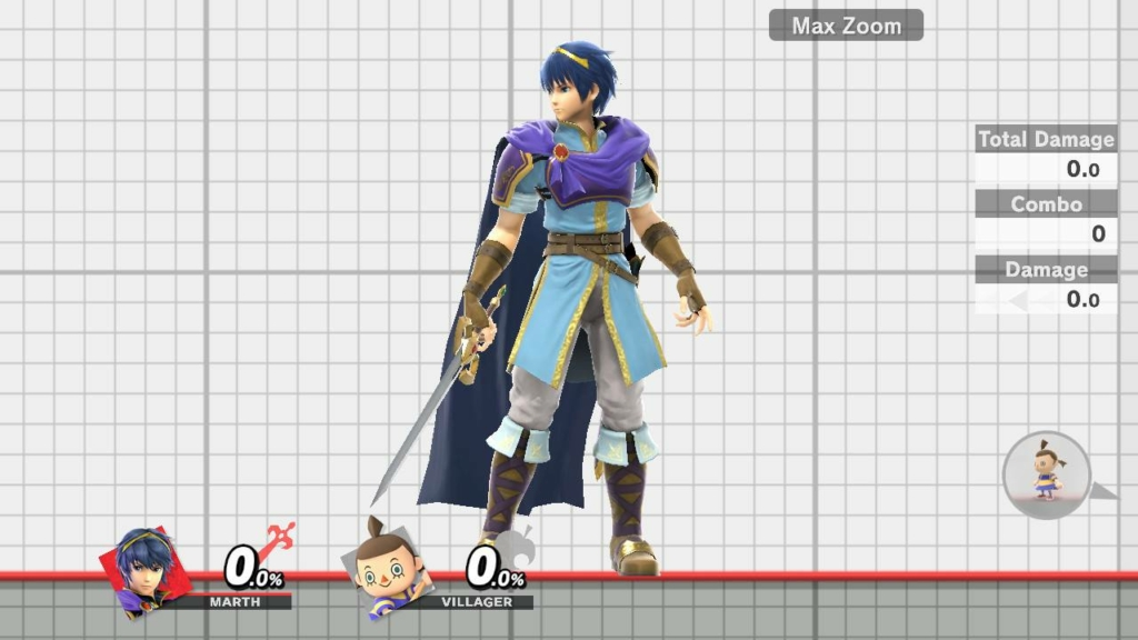 Smash Ultimate Marth Purple