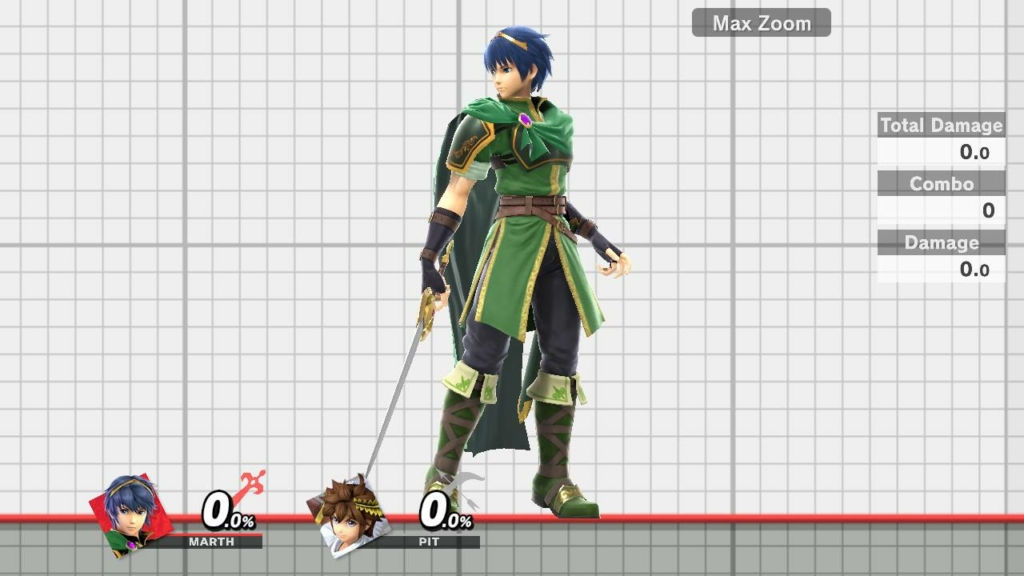 Smash Ultimate Marth Green