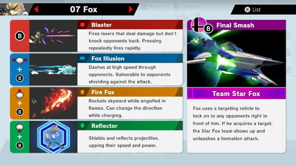 Smash Ultimate Fox Moves