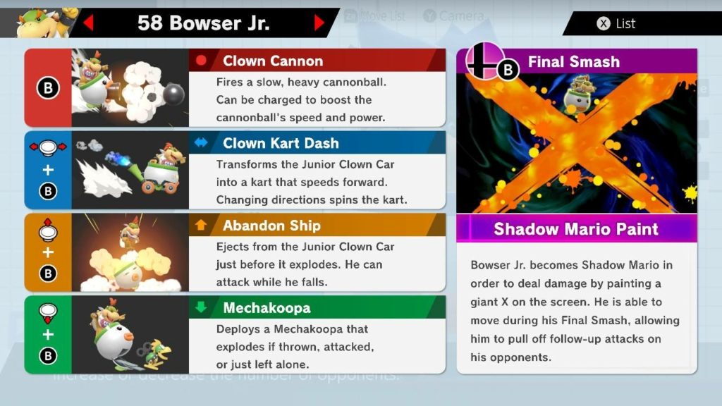 Bowser Jr Moves