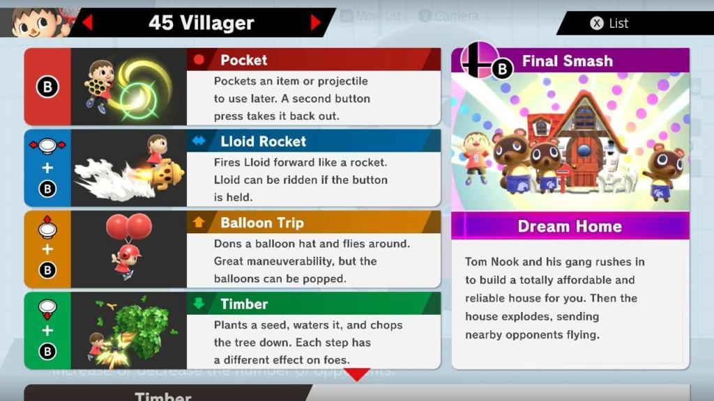 Villager Move List