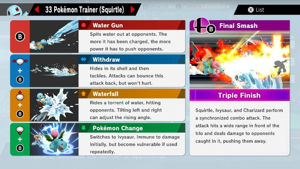 squirtle moves smash ultimate