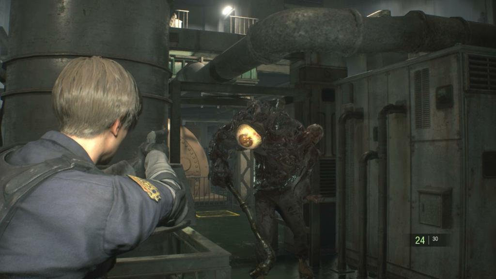 Resident Evil 2 Birkin Boss Fight 1
