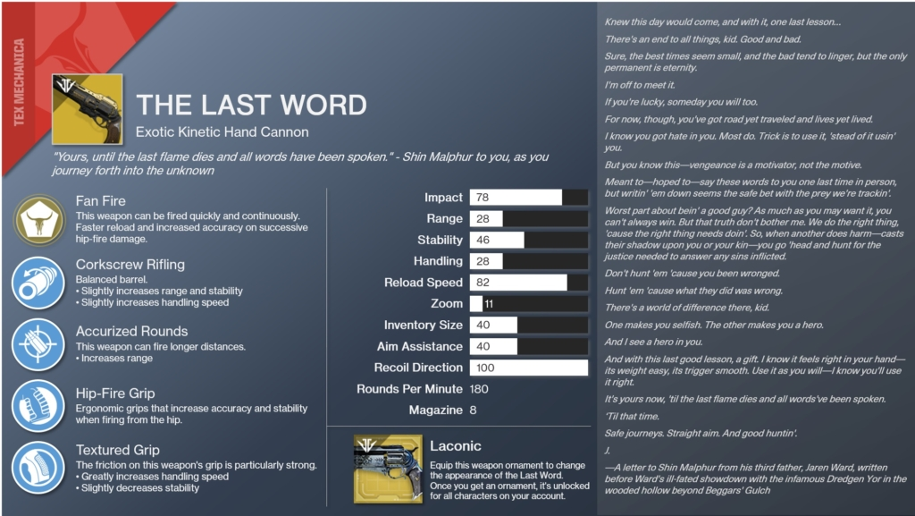 The Last Word Destiny 2