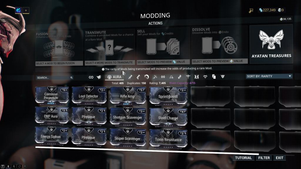Warframe Aura Mods
