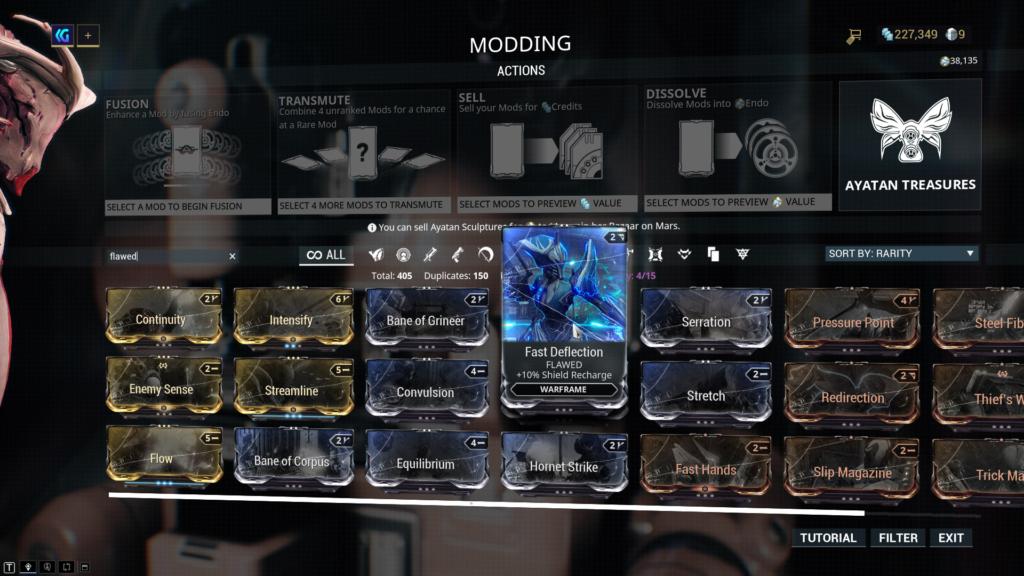 Warframe Flawed Mods