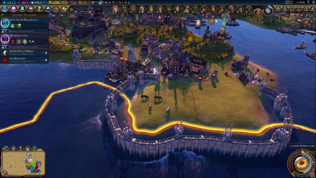 Civ 6 Power Walls