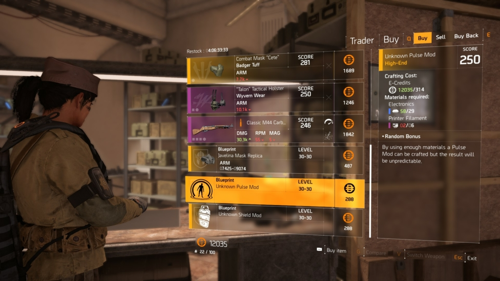 The Division 2 Crafting Guide Tips On How When To Make New Gear