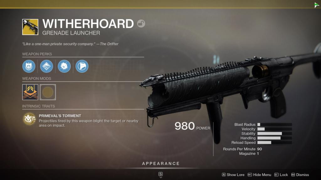 Destiny 2 Witherhoard
