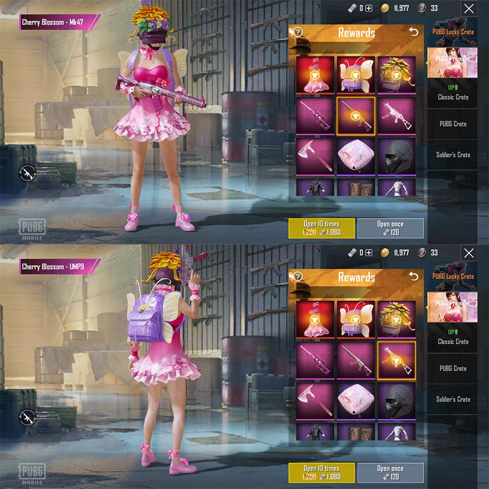 PUBG Mobile cherry blossom set