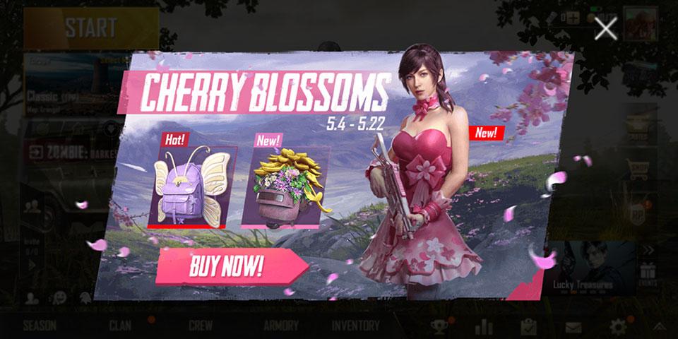 PUBG Mobile Cherry Blossom splash