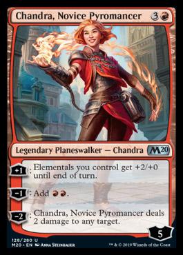 MTG Chandra Novice Pyromancer