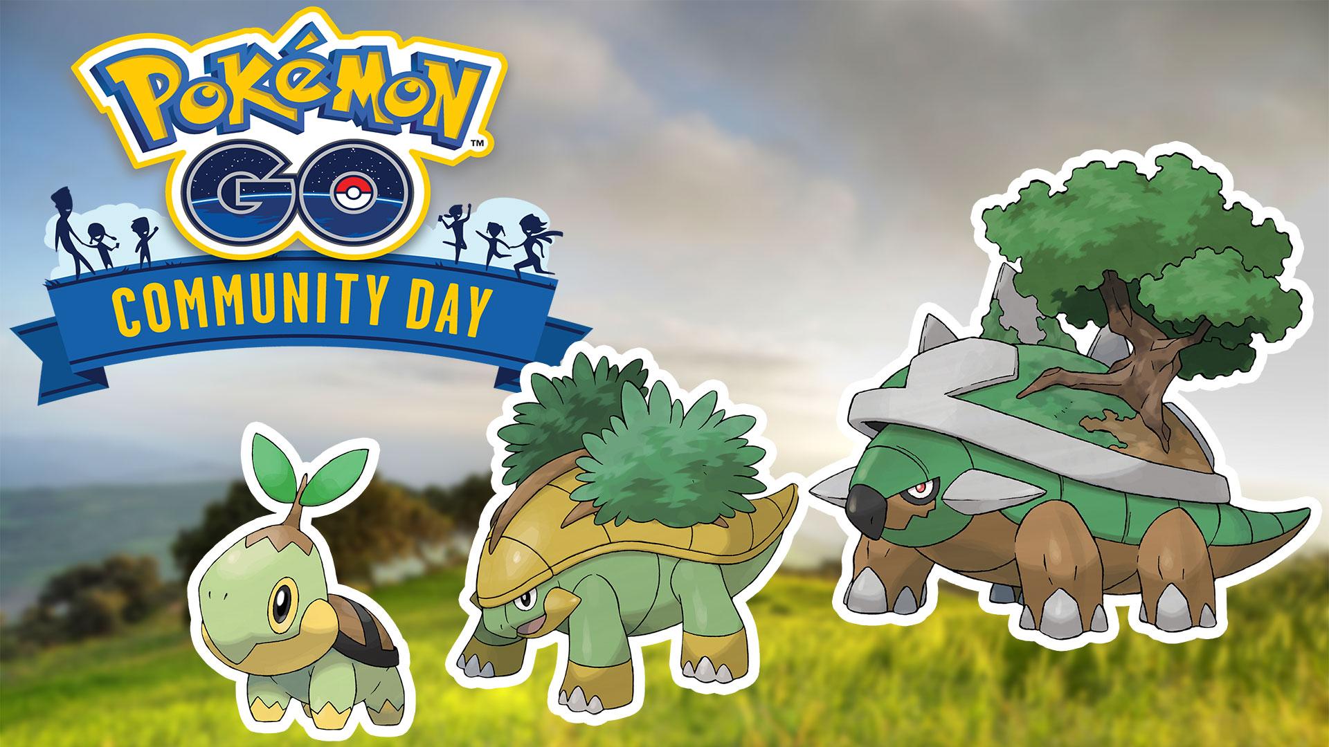 Pokemon GO Turtwig community day banner