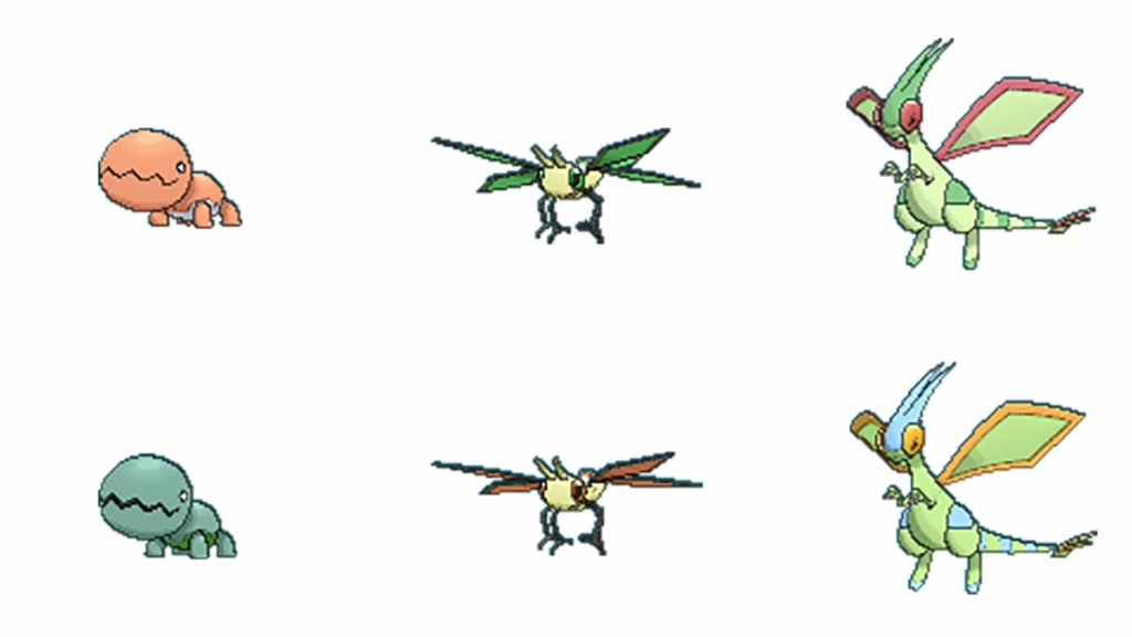 Pokemon GO Shiny Trapinch Flygon