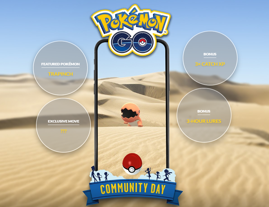 Pokemon GO Trapinch Community Day bonuses