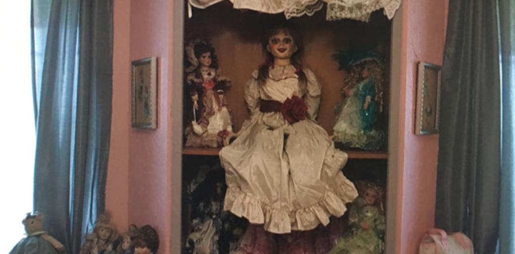 Annabelle on the shelf