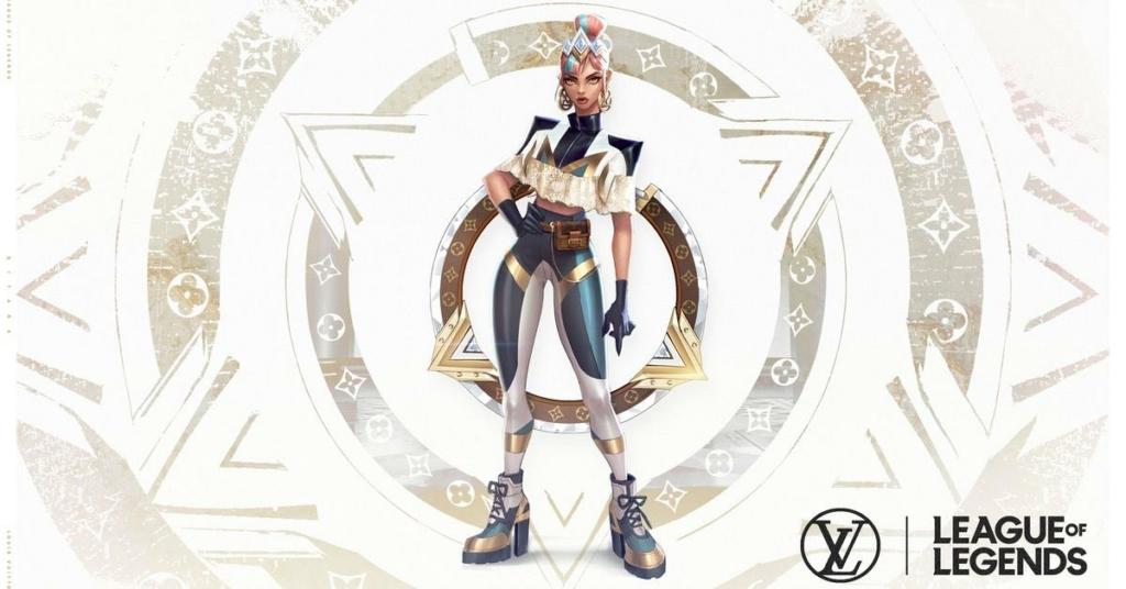 League of Legends True Damage Qiyana Prestige Skin by Louis Vuitton Concept Art