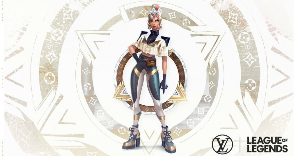 League of Legends True Damage Qiyana Prestige Skin by Louis Vuitton Concept Art
