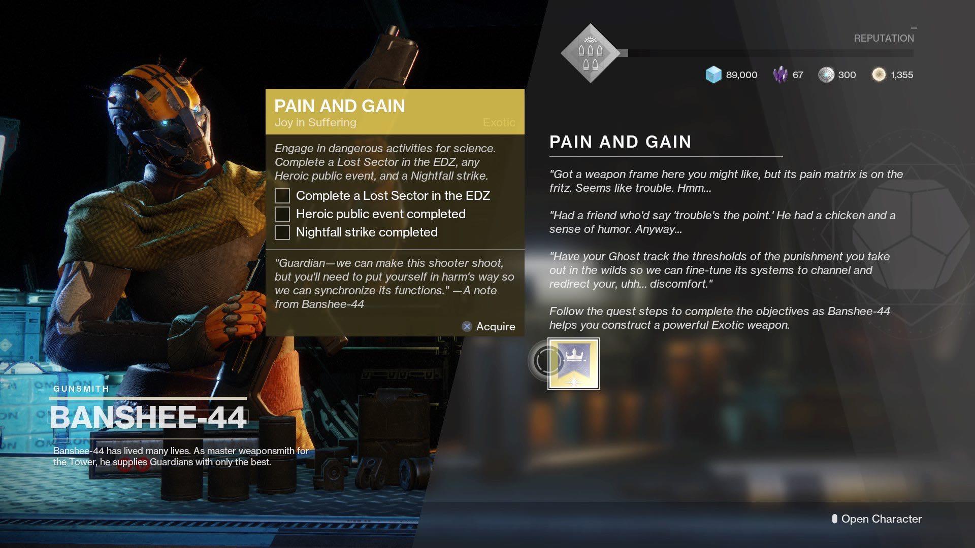 pain and gain destiny 2