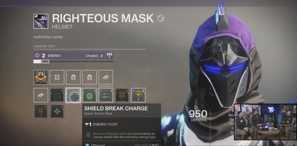 destiny 2 season of dawn armor mods