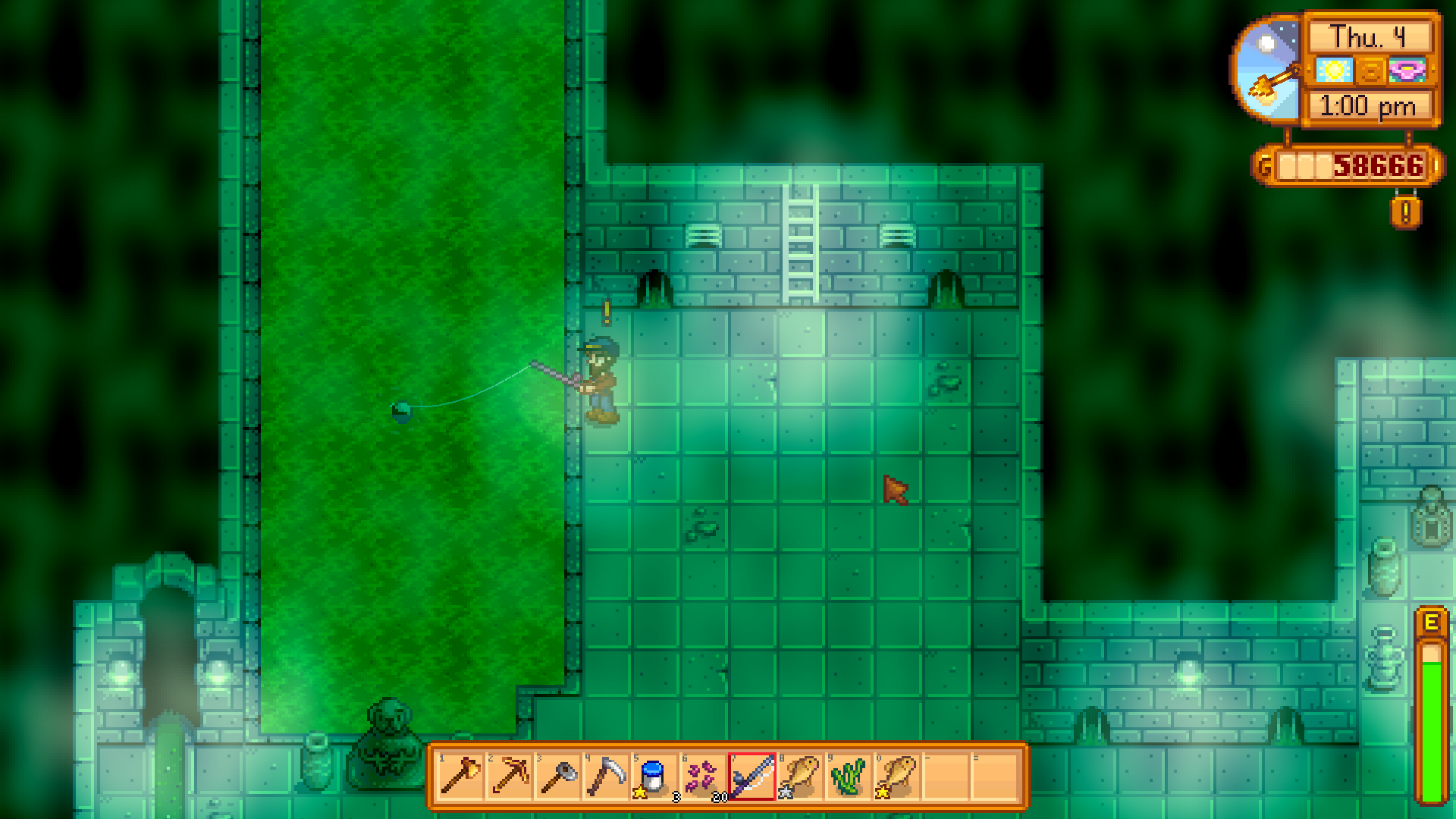 fishing in sewer