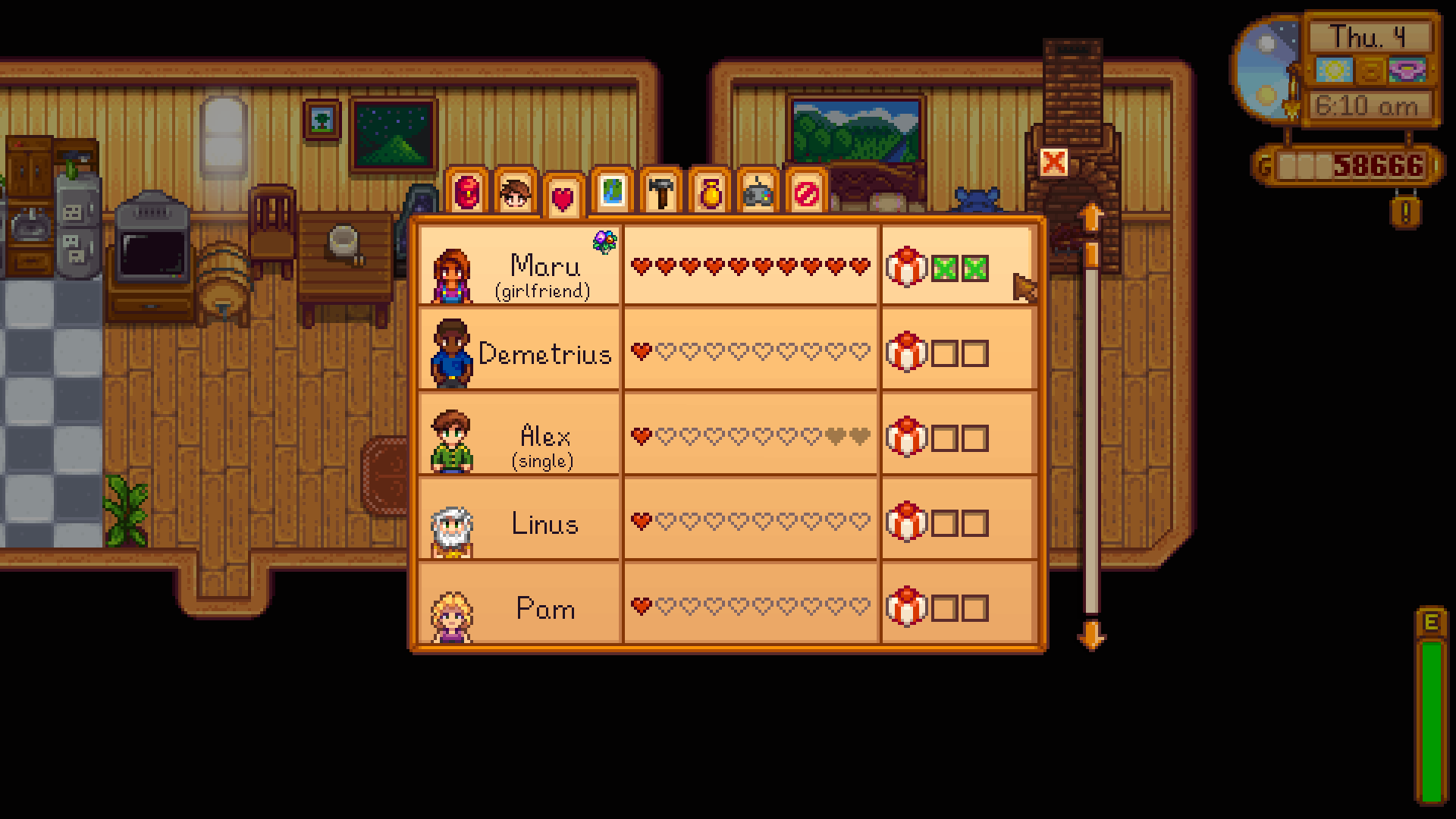 stardew valley social screen