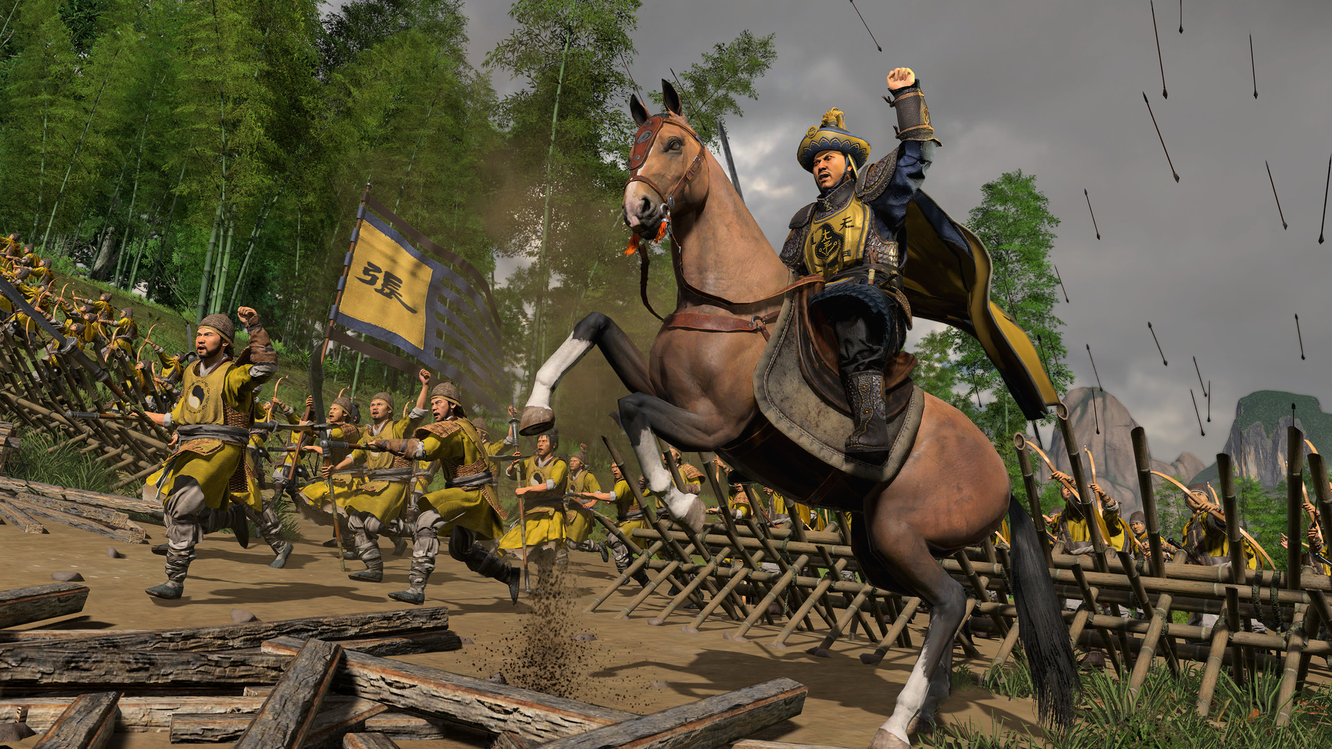 total war three kingdoms mandate of heaven dlc yellow scarves