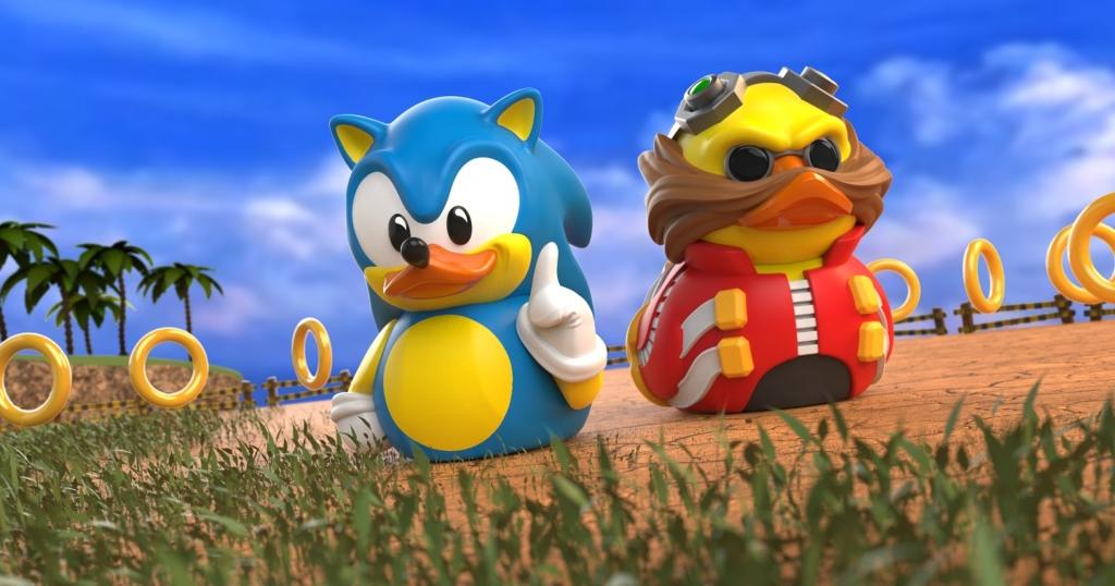 sonic the hedgehog and eggman rubber ducks
