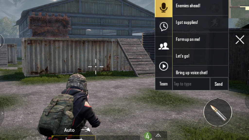 PUBG Mobile chat options