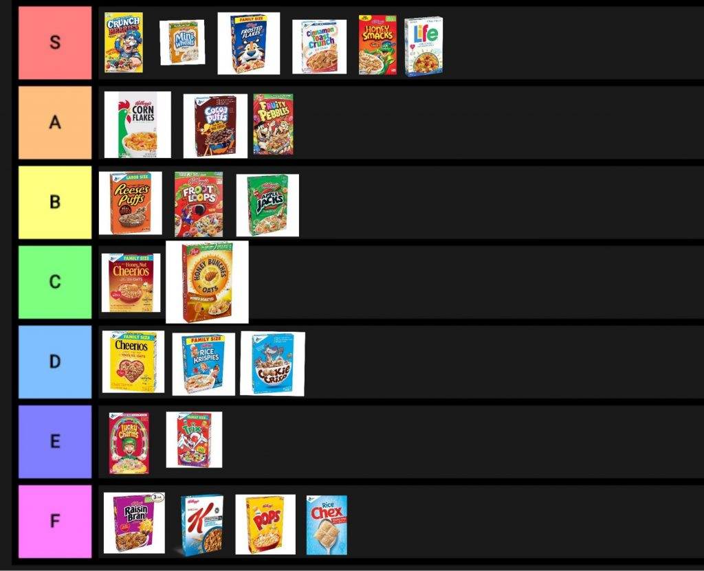 Cereal Tier List