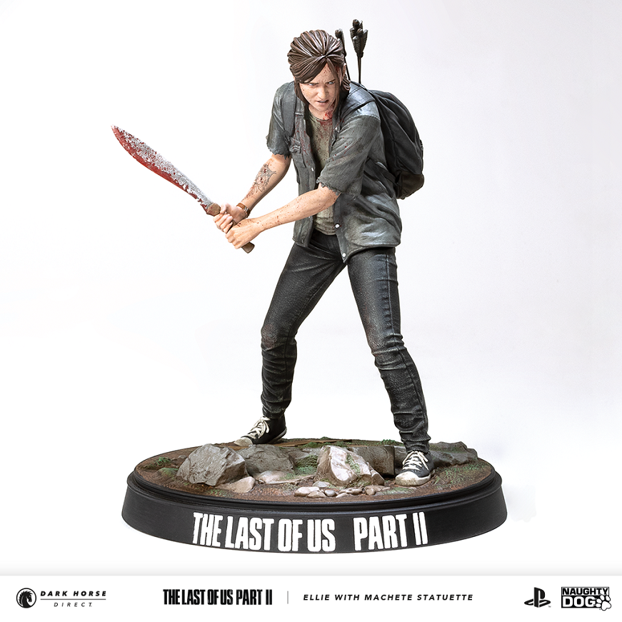 last of us ellie statue statuette figure machete