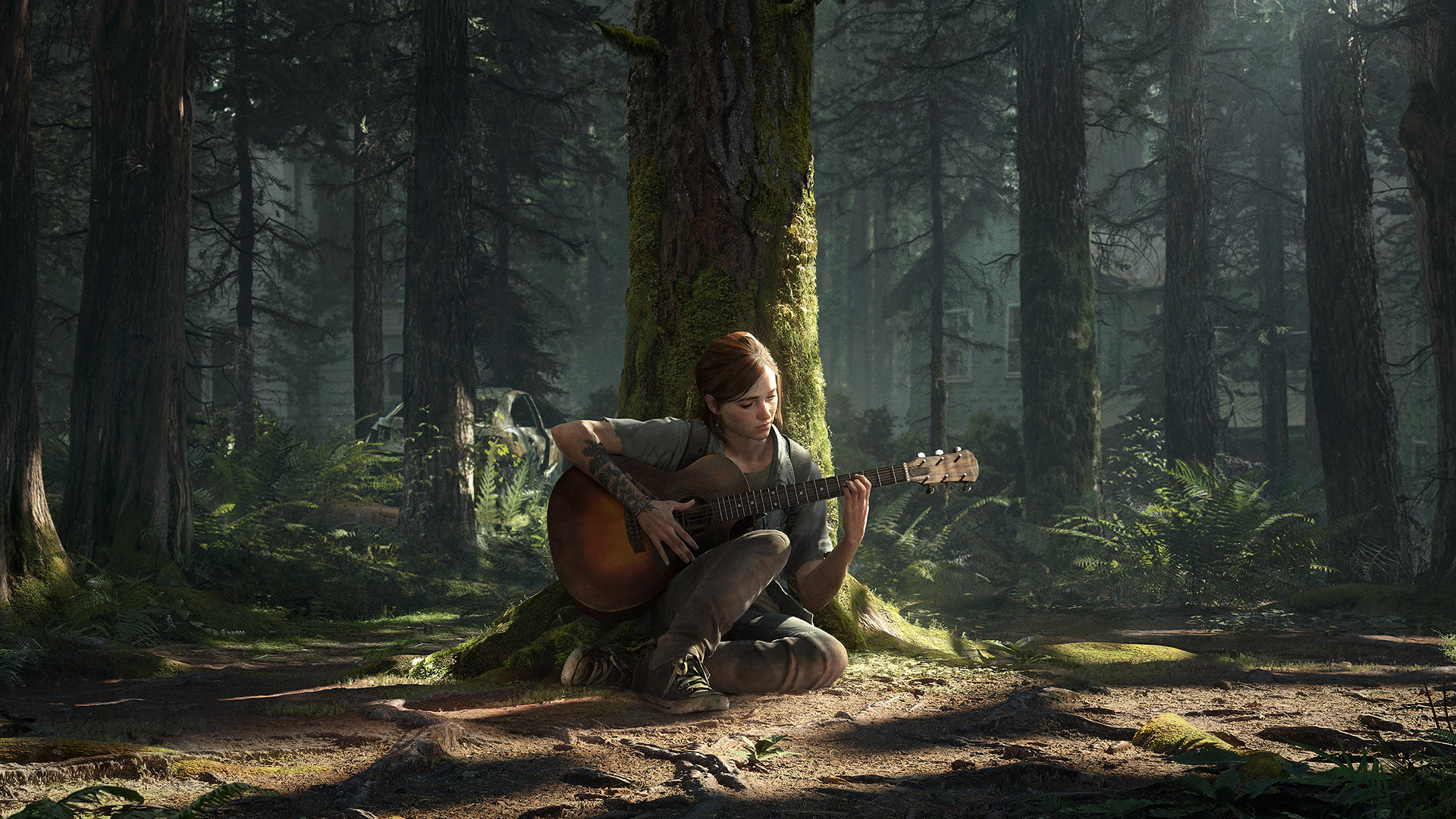 last of us 2 dynamic theme ellie guitar wallpaper