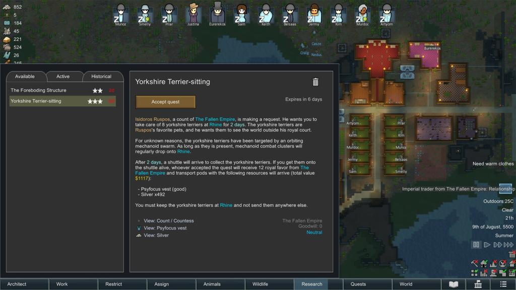 Rimworld Royalty Quest