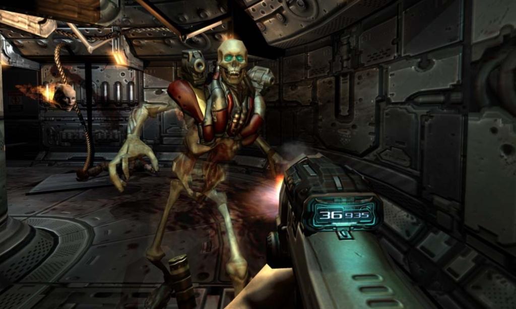 doom 3 skeleton soldier