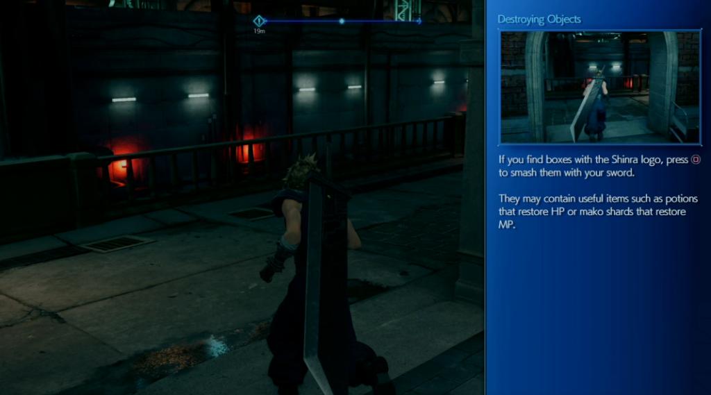 Final Fantasy 7 Remake smash boxes