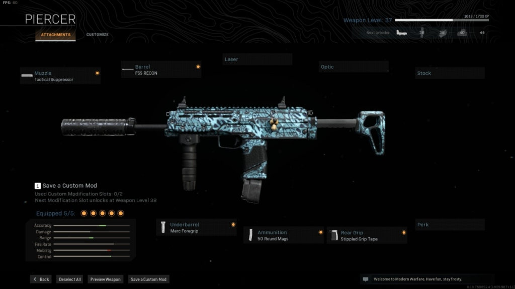 COD Warzone Best Attachments MP7