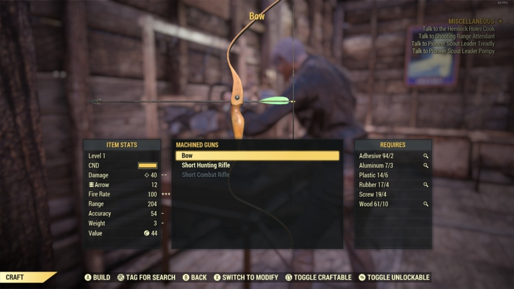 Fallout 76 Bow