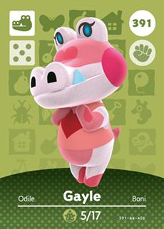 Animal Crossing Gayle