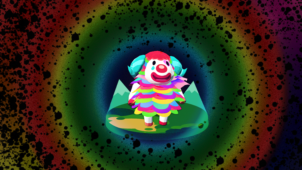 clown animal crossing new horizons