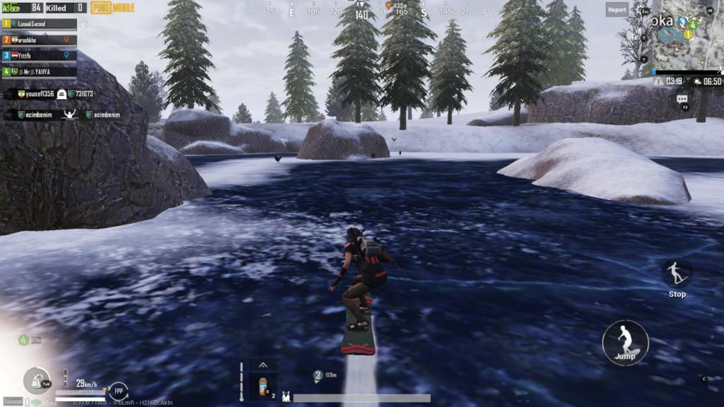 PUBG Mobile Arctic mode snowboard