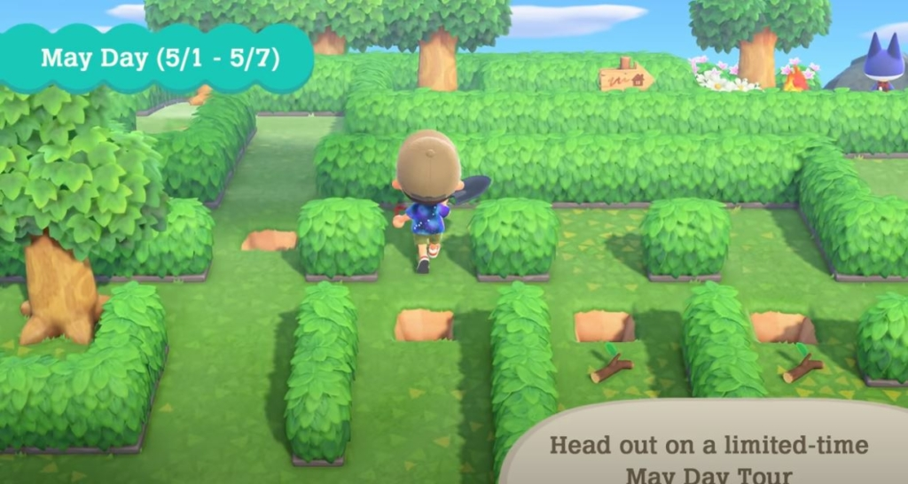 Animal Crossing New Horizons May Day Maze