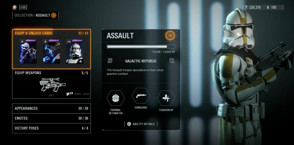 Battlefront 2 Assault Class Loudout