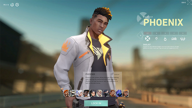 Phoenix Character Select Valorant