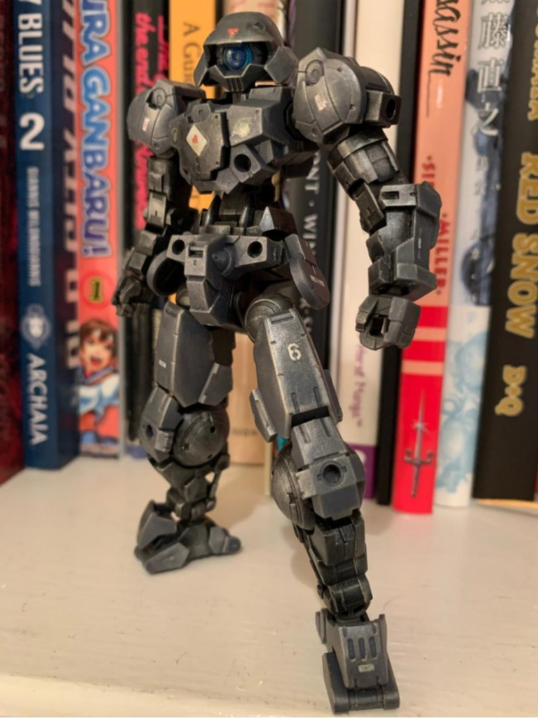 frame arms model weathered