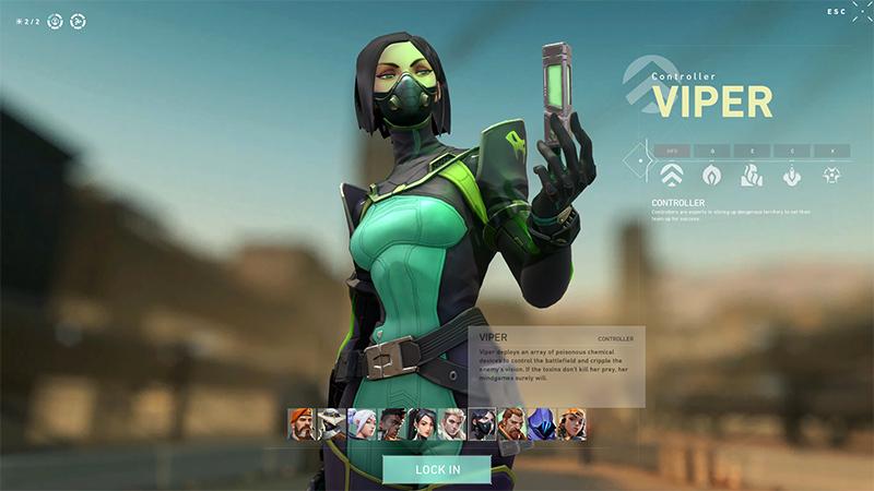 Viper Character Select Valorant