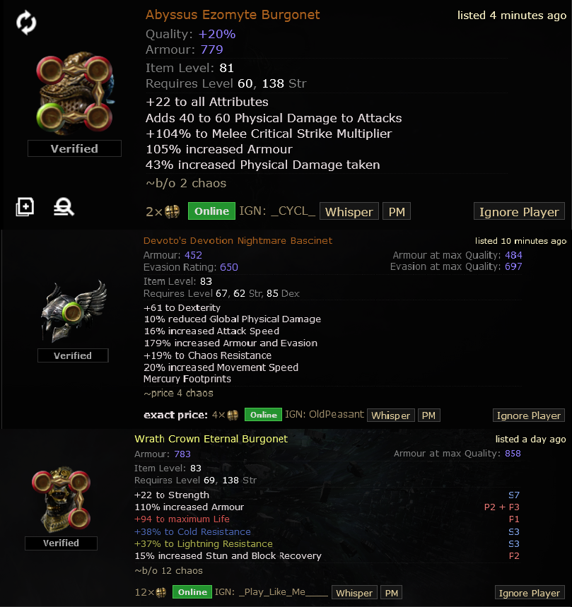 Path of Exile Gear