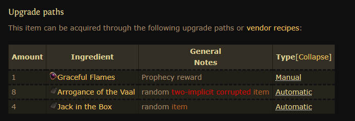 Path of Exile Upgrade Paths