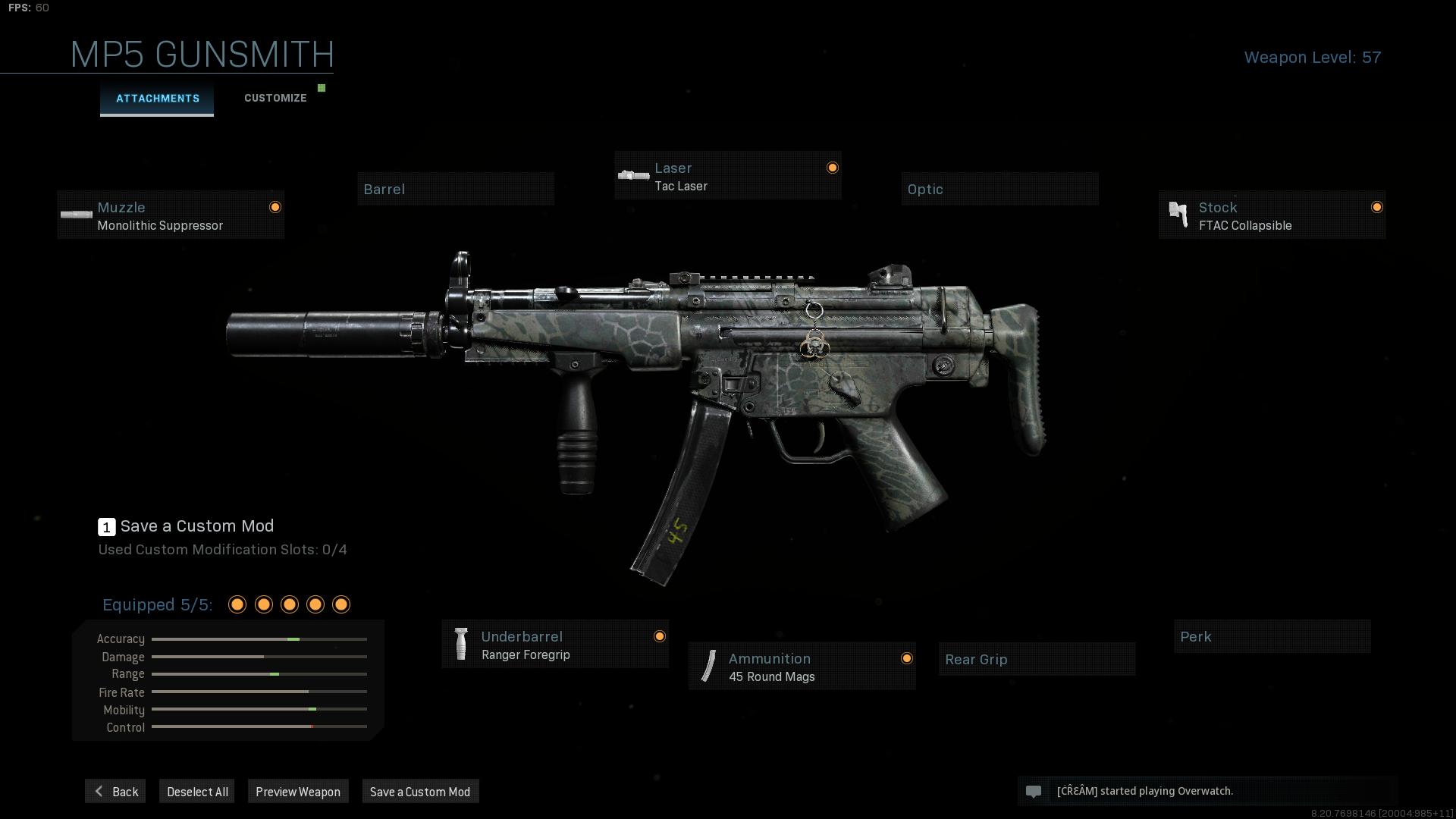 COD Warzone Best MP5 Loadout