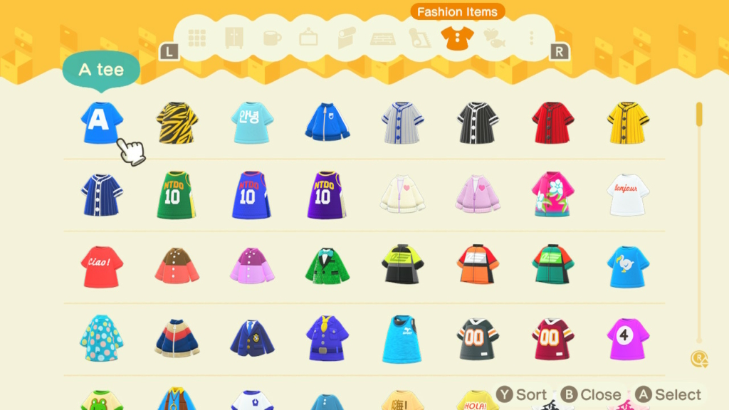 animal crossing fashion storage