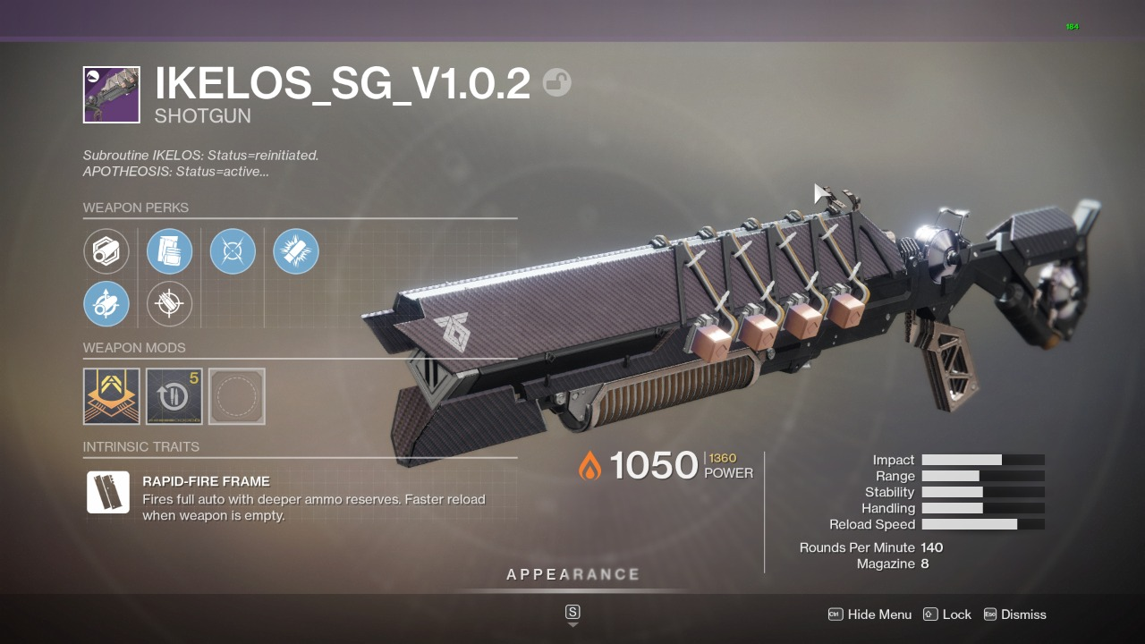 Destiny 2 Ikelos Shotgun God Roll